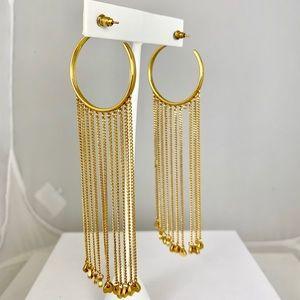 Chloe Cascading Chain Hoop Earrings